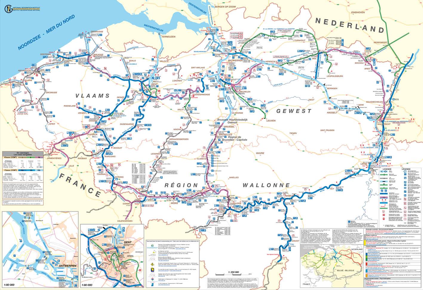 Carte Belgique Canaux.Direction Generale Operationnelle De La Mobilite Et Des