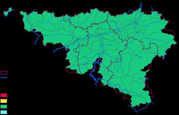 Carte Belgique Communautes Et Regions.Meteo En Belgique Niveau Des Cours D Eau
